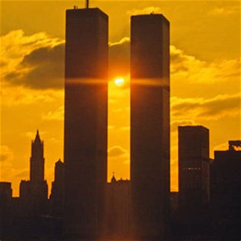 Twin Towers Dark Sunset Facebook Cover - Places