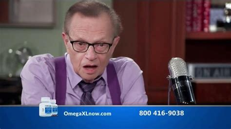 Omega XL TV Spot, 'Joint Pain' Featuring Larry King - iSpot