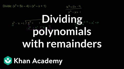 Dividing polynomials with remainders | Polynomial and
