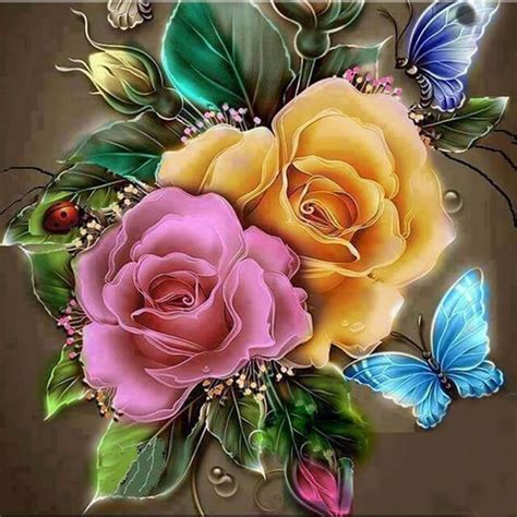 Butterfly Rose | 5D Diamond Painting Kits | OLOEE