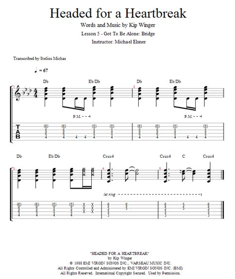 Guitar Lessons: Got To Be Alone: Bridge
