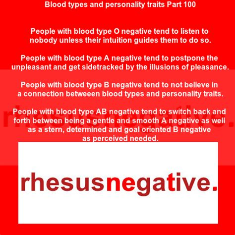 Blood types and personality traits Part 100 – Rhesus