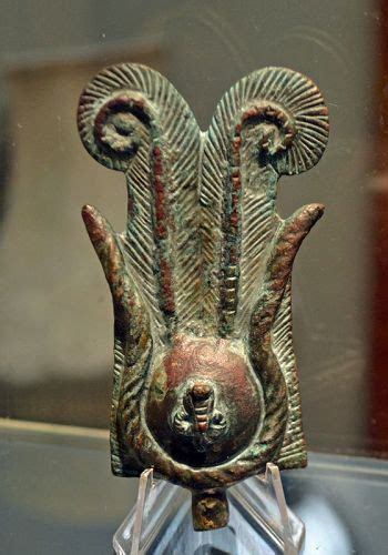 AN ANCIENT EGYPTIAN BRONZE CROWN (item #1414808)
