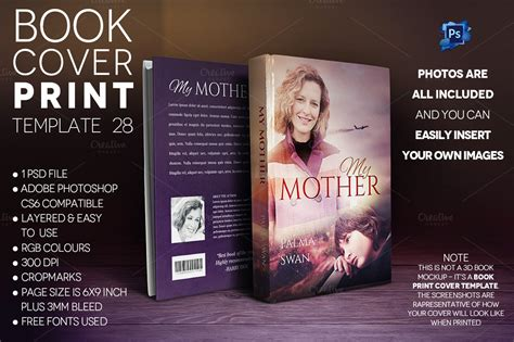Book Cover PRINT Template 28 ~ Templates on Creative Market