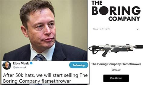 Elon Musk is selling a $600 Boring Company flamethrower