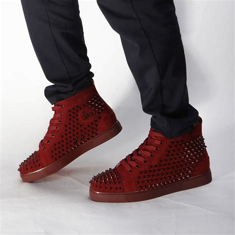 Limited Version Christian Louboutin Mens Spikes High Top