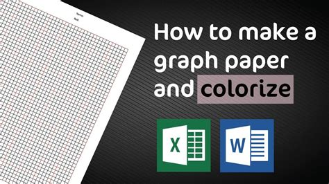 How To Make a Graph Paper in Excel and MS Word - YouTube