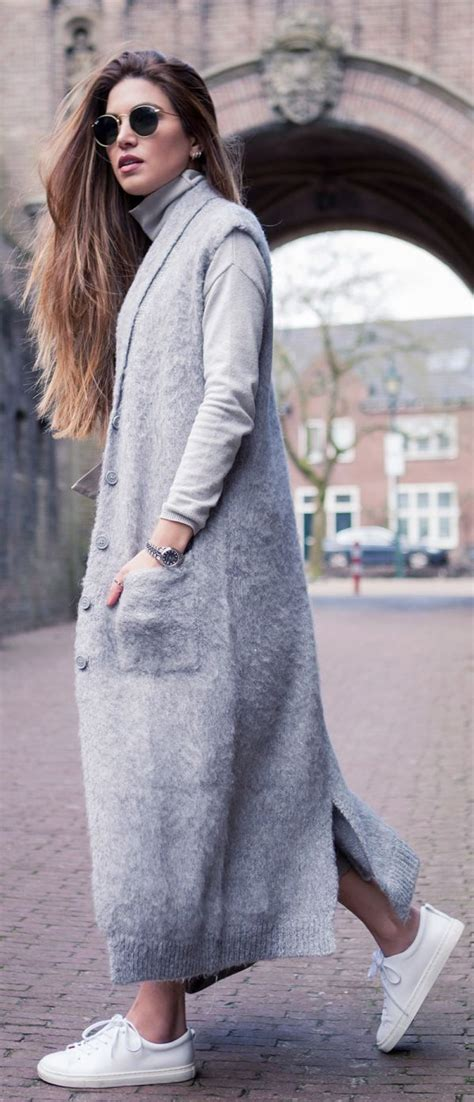 Long Cardigan Outfits For This Season - All For Fashions