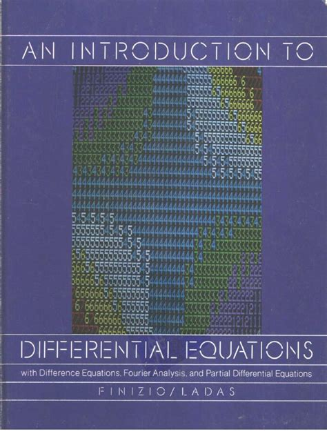 An Introduction to Diff Equations   Ordinary Differential