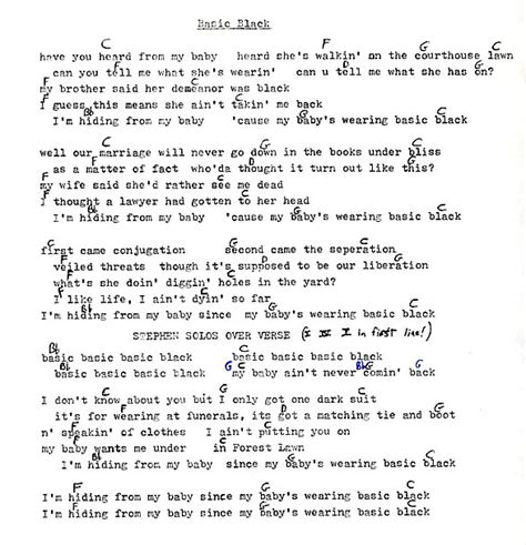 Long Ryders Lyrics and Chords – Sid Griffin – The Official