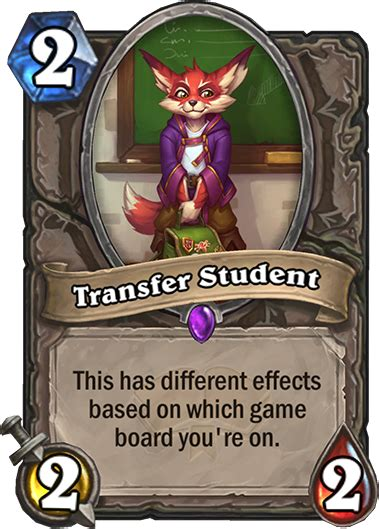 Hearthstone: Full list of Transfer Student's effects in