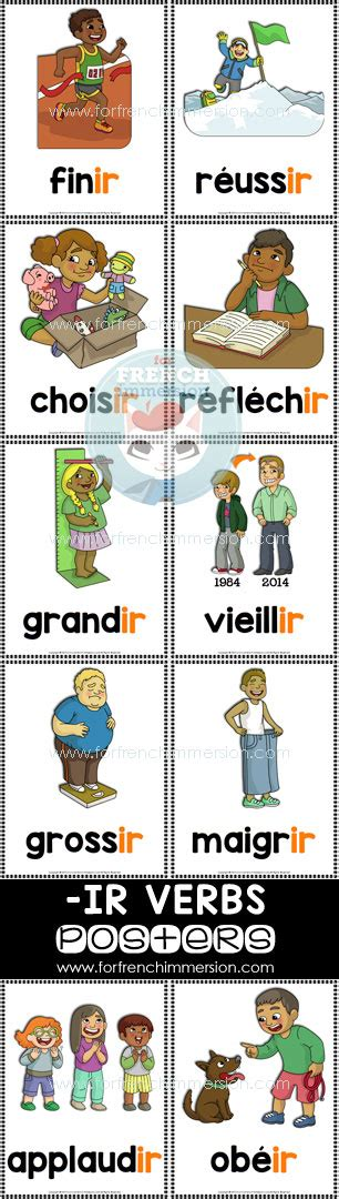 French IR verbs - verbes en -IR - For French Immersion