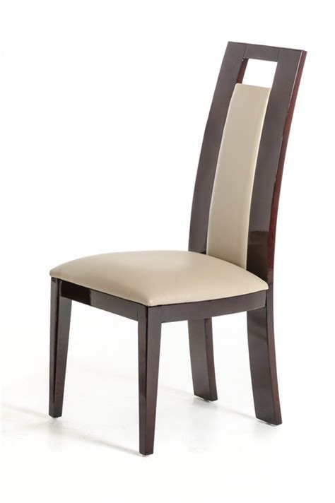 Douglas - Modern Ebony and Taupe Dining Chair (Set of 2