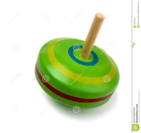 Spinning top toy stock image