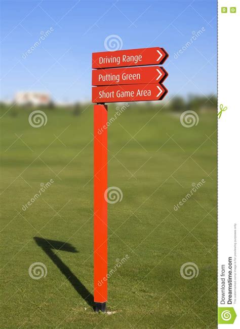 Golf Course Direction Signs Stock Image - Image of