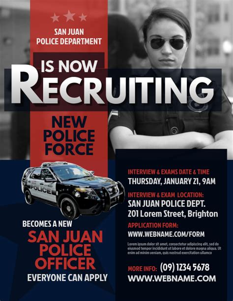 Copy of Police Recruitment Flyer | PosterMyWall