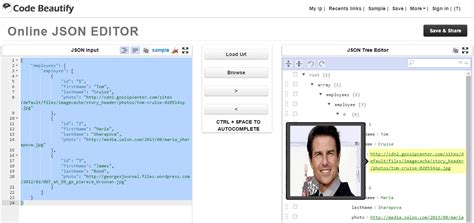 Best Online JSON Editor to edit JSON online, Save and Share