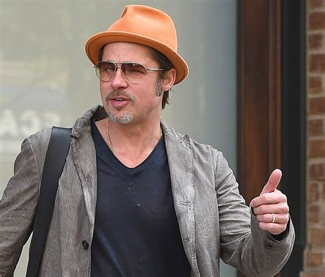 Brad Pitt in New York shooting commercial with Martin