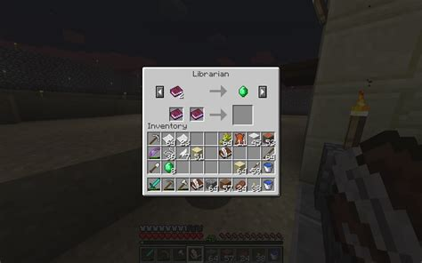 How do I trade written books to a librarian villager