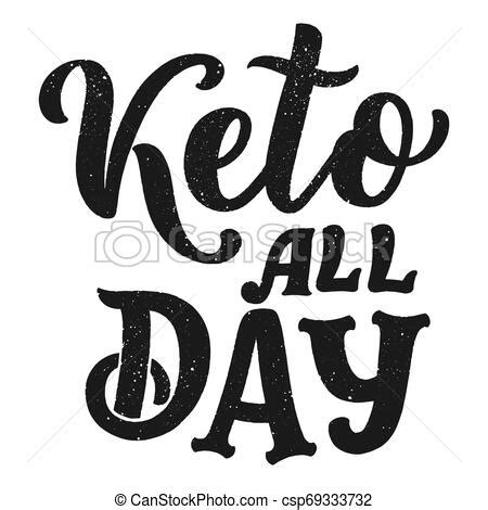 Lettering - love keto about diet for concept design