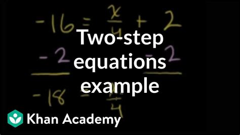 Example: two-step equation with numerator x | Linear