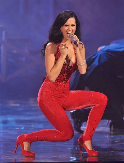 """Katy Perry Performs """"Firework"""" at the 2010 American Music"""