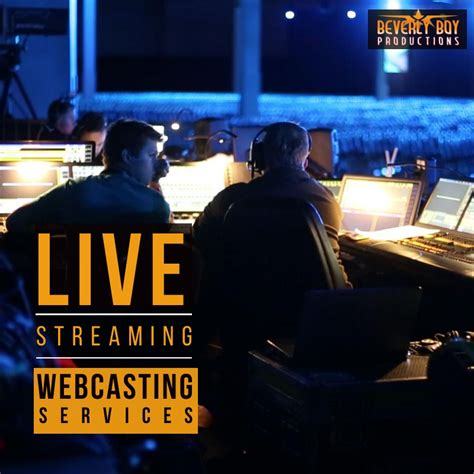 Live Streaming Services - Webcasting - Video Production